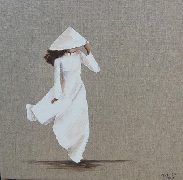Vietnam jeune fille en blanc
