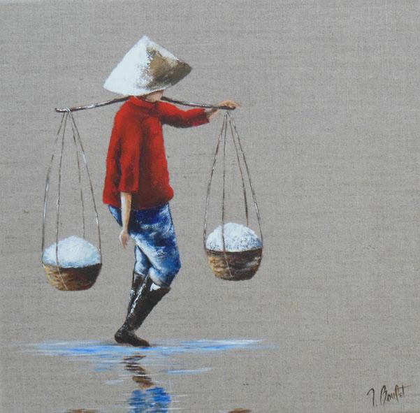 Vietnam recolte de sel (vendu)