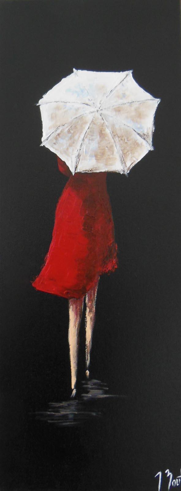 Parapluie blanc (vendu)
