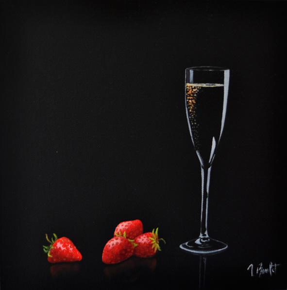 Champagne et fraises (vendu)