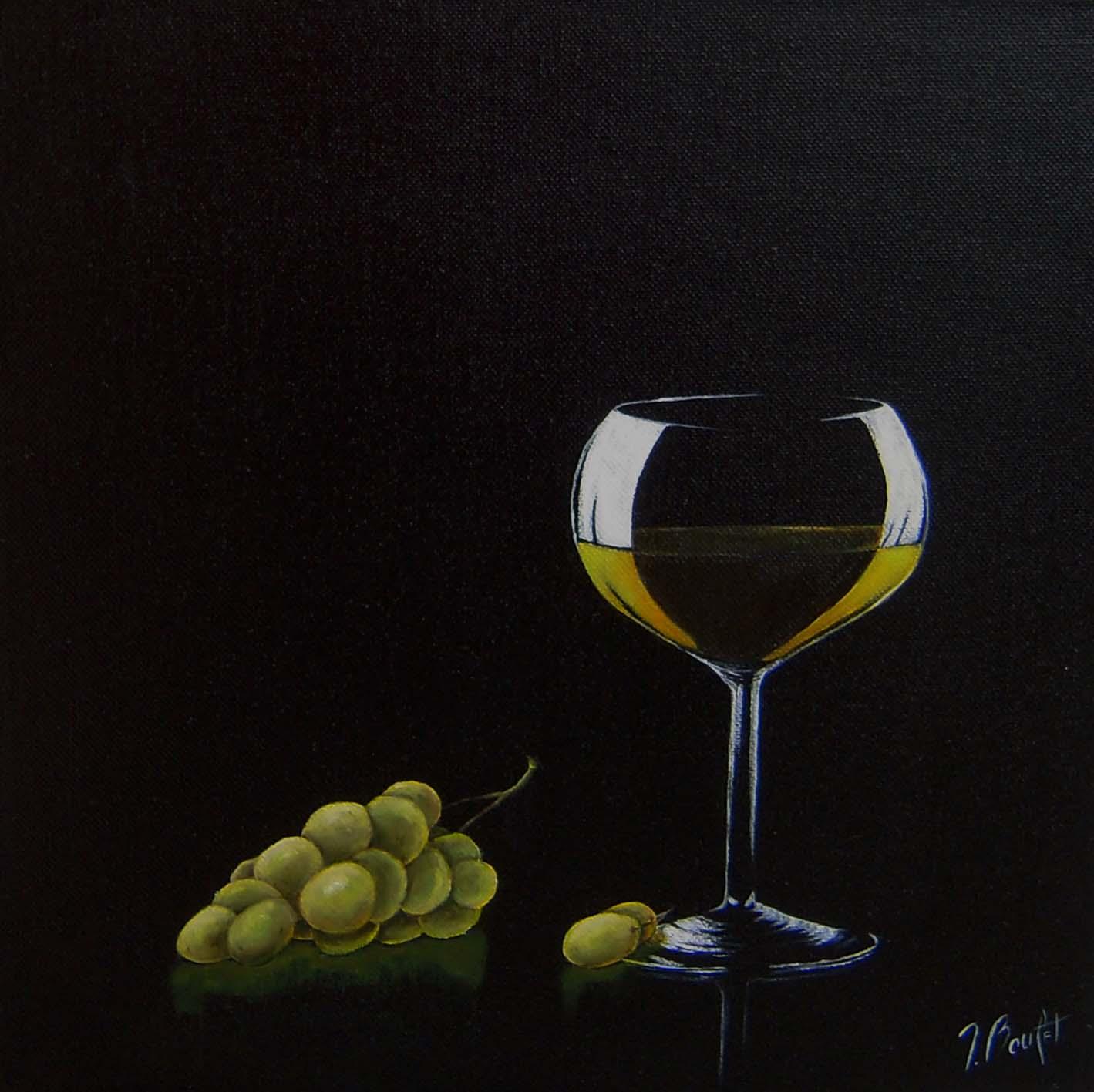 Vin blanc et raisin (vendu)