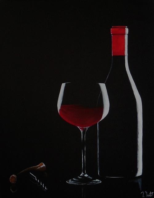 Vin et tire-bouchon (vendu)