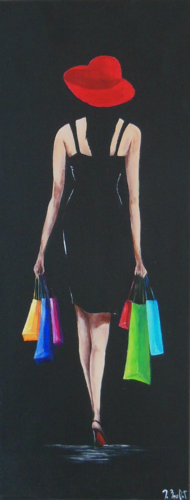 Shopping en couleurs (vendu)