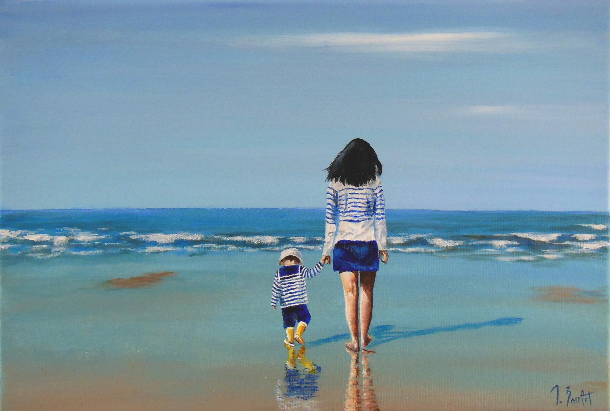 Promenade sur la plage (vendu)